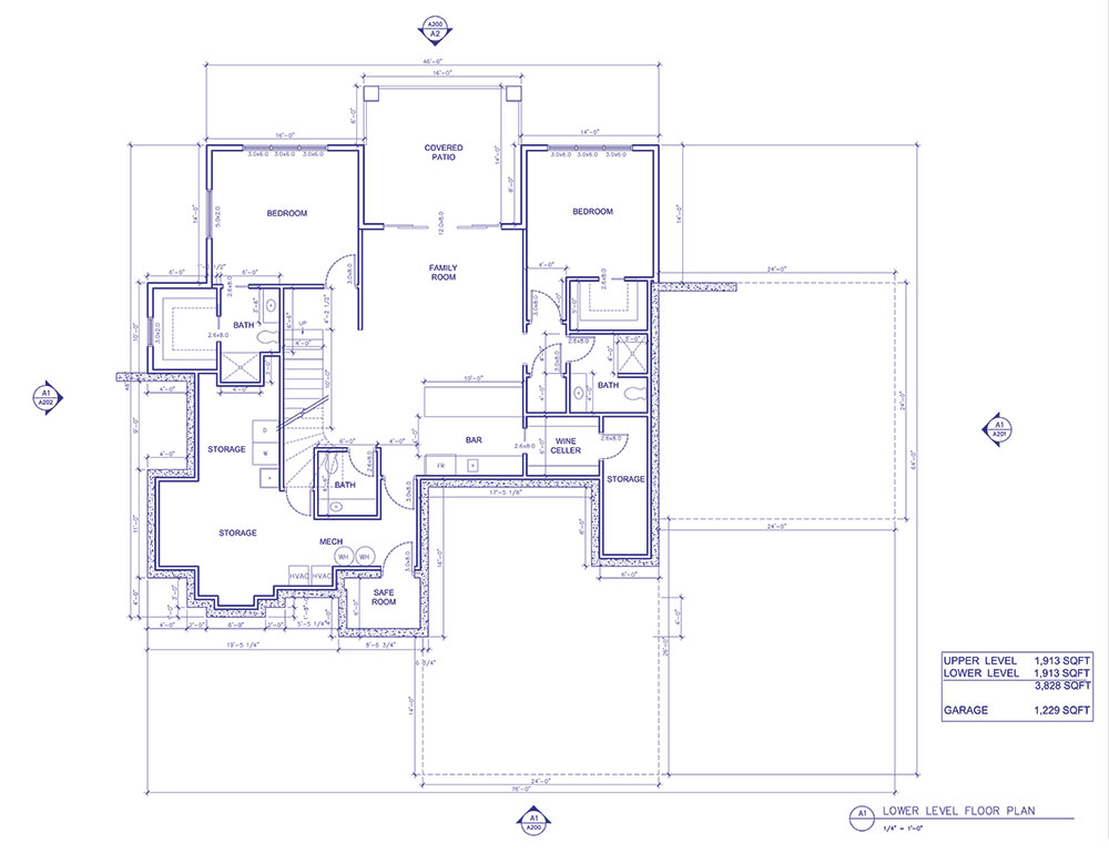 Lower Level Floor Plan of the LOZ Propane Home