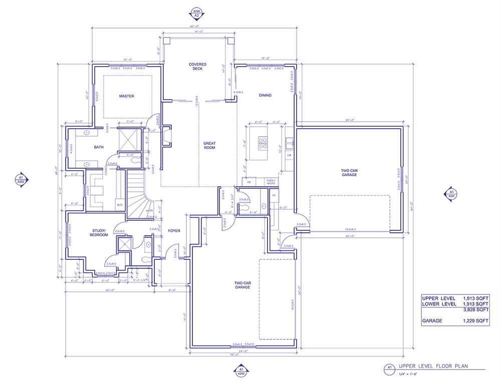 Upper Level Floor Plan of the LOZ Propane Home