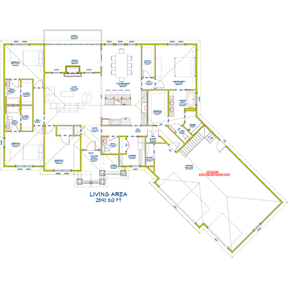 Joplin Propane Home Floor Plan